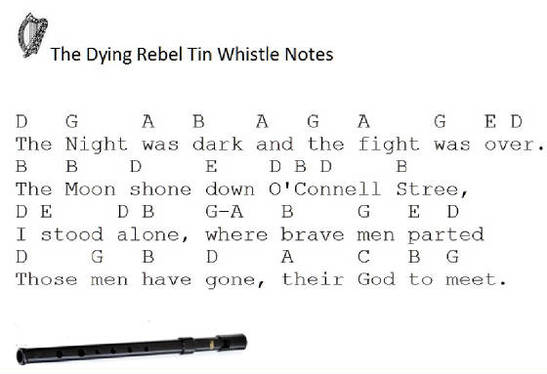 The Dying Rebel Tin Whistle Notes