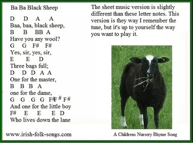 Easy to play tin whistle song Ba Ba Black Sheep