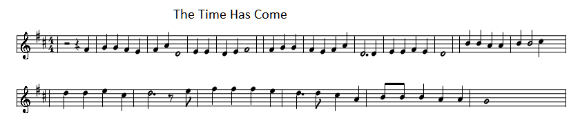 The time has come sheet music