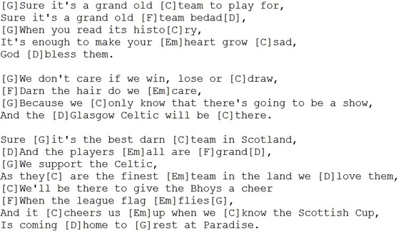 The Celtic Song Guitar Chords Irish Folk Songs