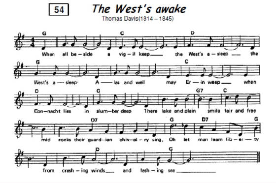 The West's Awake sheet music notes