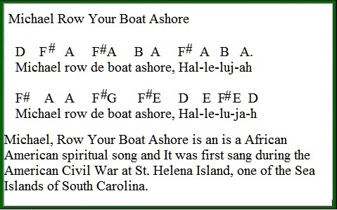 Michael row your boat ashore easy tin whistle version
