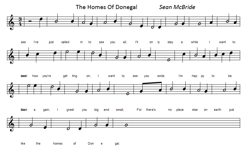 the homes of donegal sheet music