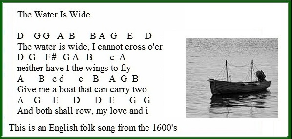 The Water Is Wide Lyrics Chords And Sheet Music Irish Folk Songs