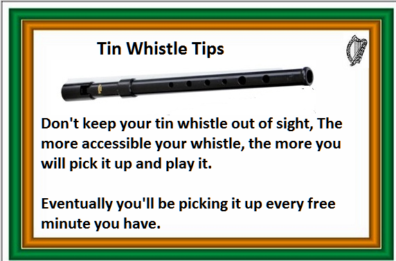 Tip for learning to play the tin whistle