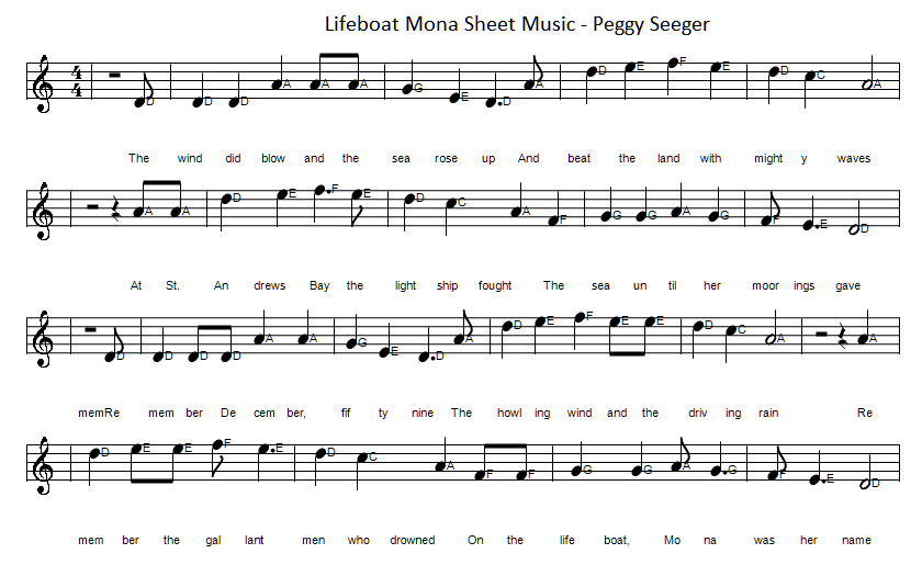 lifeboat mona sheet music