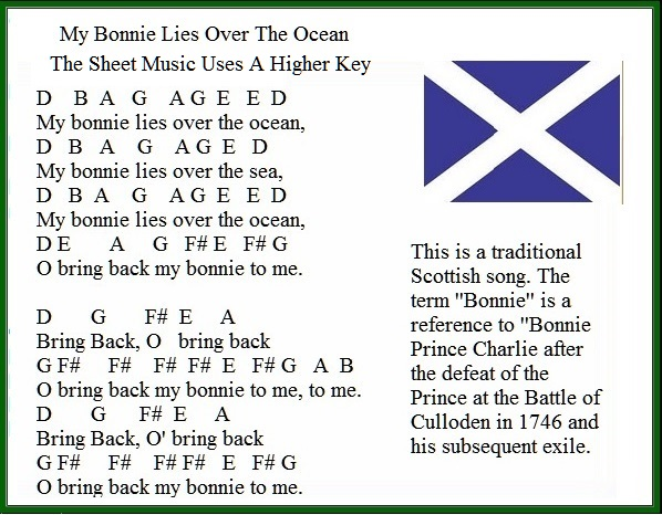 My bonnie lies over the ocean easy to play tin whistle version