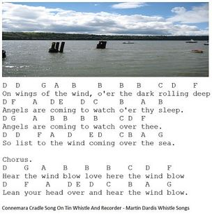 Connemara Cradle Song letter notes for musicians learning this song.