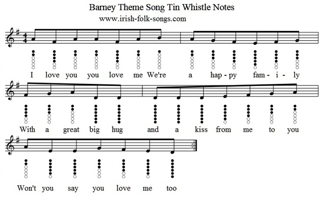Barney i love you song with lyrics
