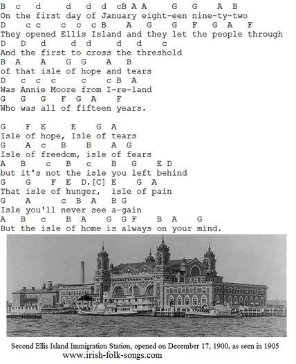Isle of hope isle of tears tin whistle music notes