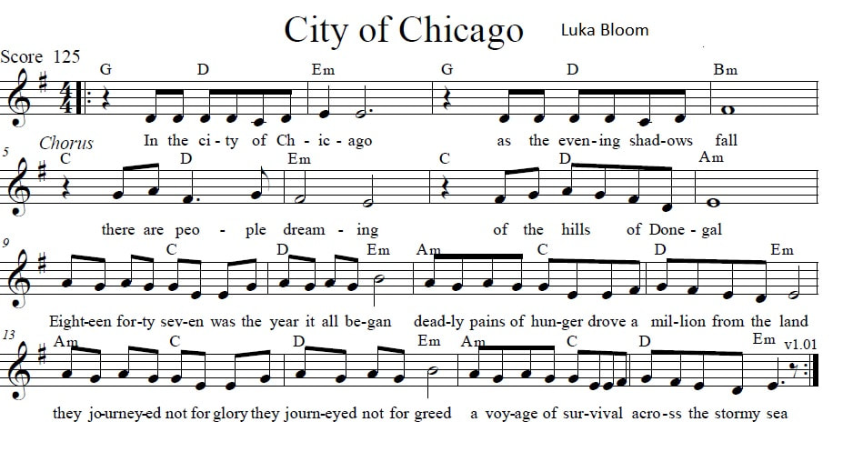 City of Chicago sheet music