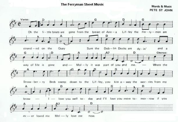 the ferryman sheet music