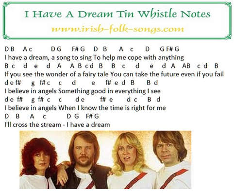 I have a dream letter notes by Abba
