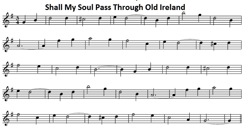 Shall my Soul Pass Through Old Ireland sheet music