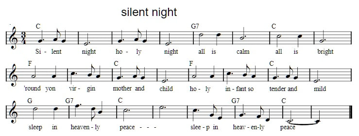 Silent Night Tin Whistle Sheet Music Irish Folk Songs