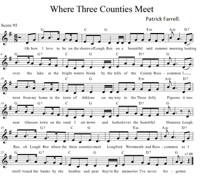 Where the three counties meet sheet music