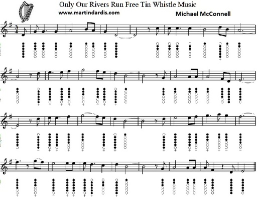 only our river tin whistle notes