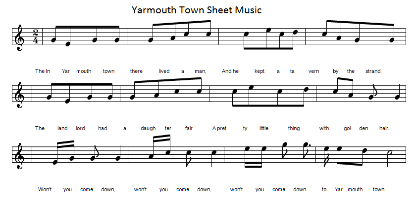 Yarmouth town sheet music