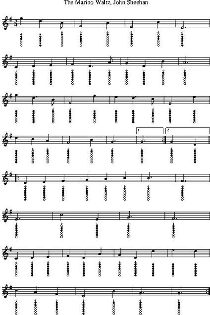The Marino Waltz Tin Whistle sheet music