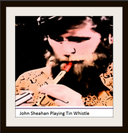 John Sheahan of The Dubliners playing tin whistle