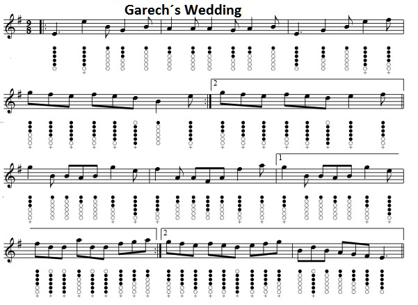 Garechs Wedding sheet music for tin whistle