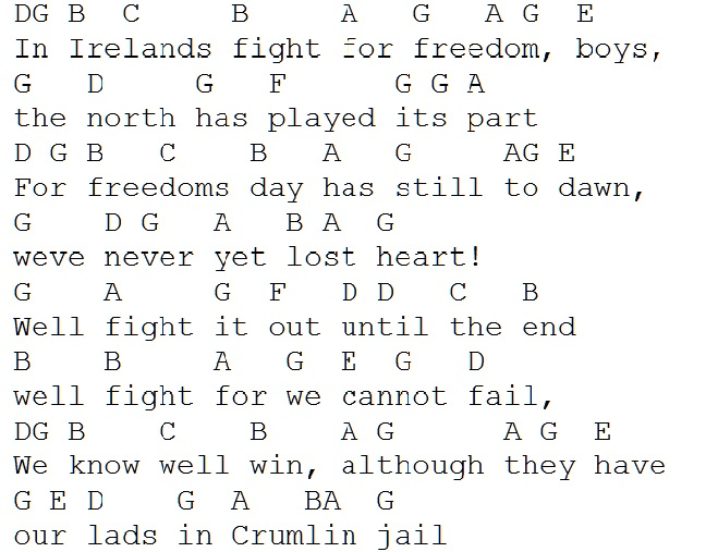 In Ireland's fight for freedom tin whistle letter notes