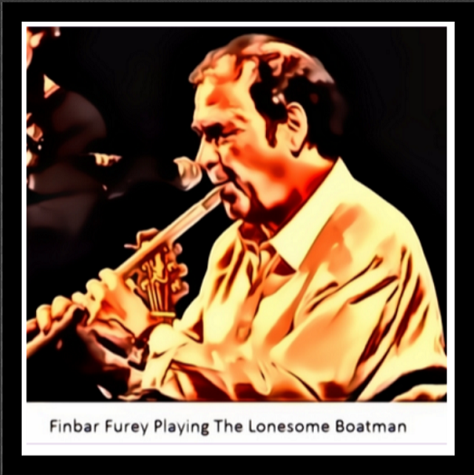 Photo of Finbar Furey Playing the lonesome boatman on tin whistle