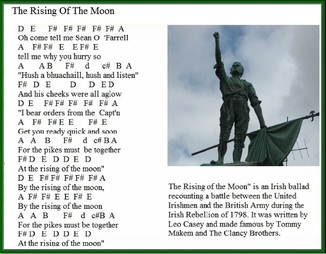 The rising of the moon letter notes for tin whistle