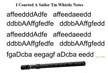 I courted a sailor tin whistle notes by Kate Rusby