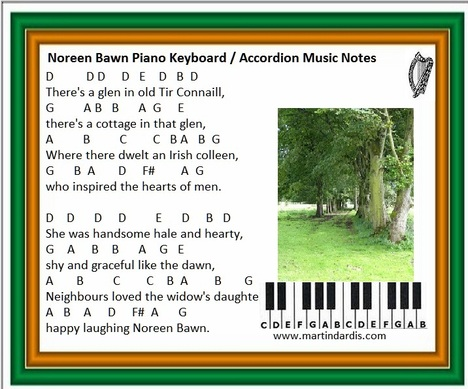 Noreen bawn music letter notes