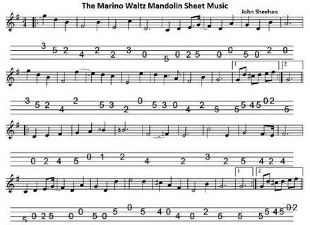 the marino waltz banjo tab