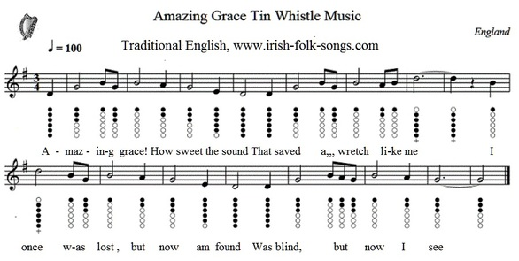 Amazing grace sheet music easy version