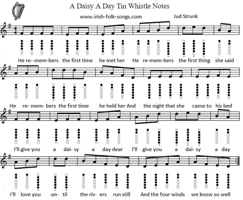 a daisy a day sheet music notes