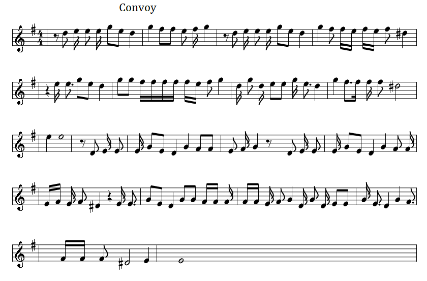 Convoy Song Sheet Music by C.W. McCall in G Major