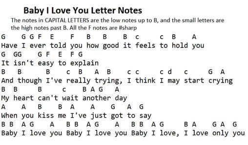 Baby I Love you letter notes