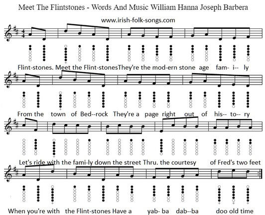 The Flintstones Theme Song Sheet Music Notes