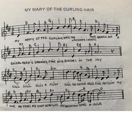My Mary of the curling hair sheet music
