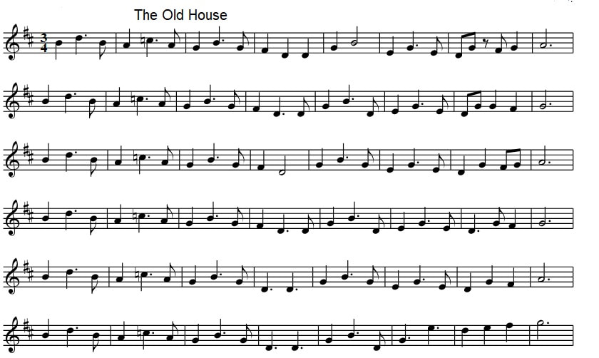 The old house sheet music