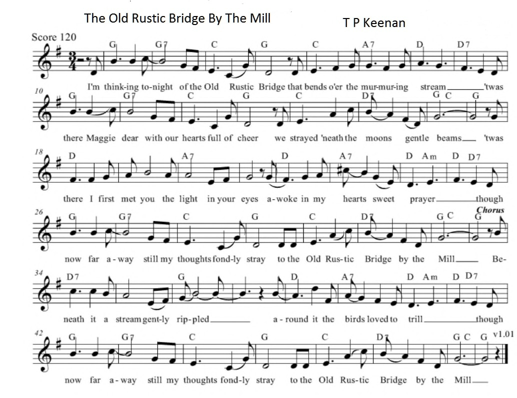 The old rustic bridge sheet music