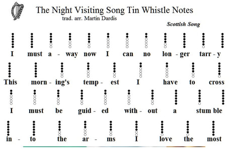 The night visiting song tin whistle notation
