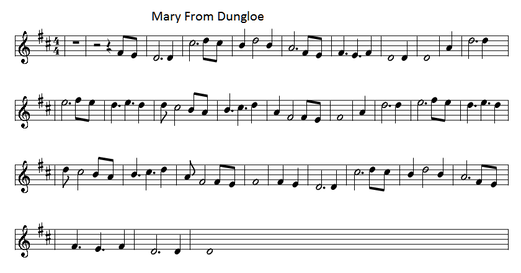 Mary from dungloe sheet music
