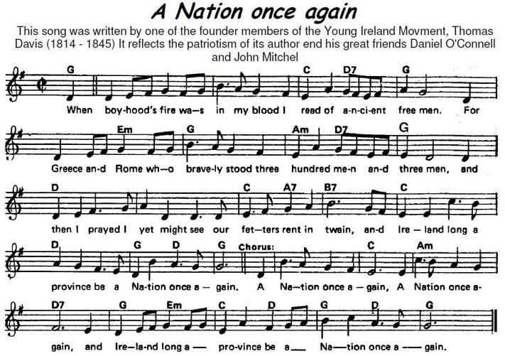 A Nation Once Again Sheet Music