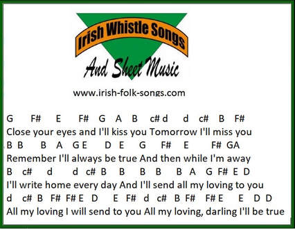 All my loving tin whistle notes