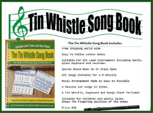 Tin Whistle Sheet Music Notes - Irish folk songs