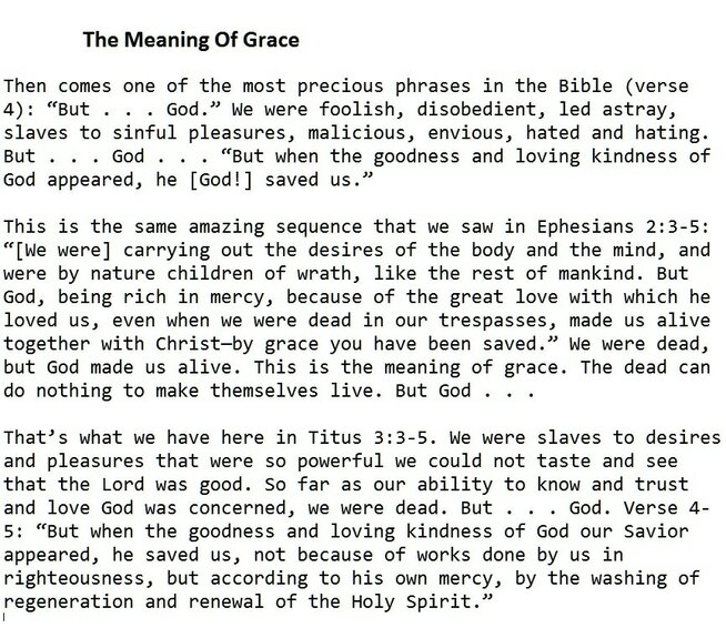 The meaning of Amazing Grace