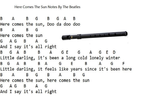 Here Comes The Sun Tin Whistle Notes