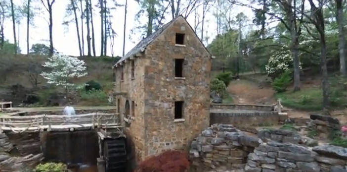 An Old Millhouse and mill wheel