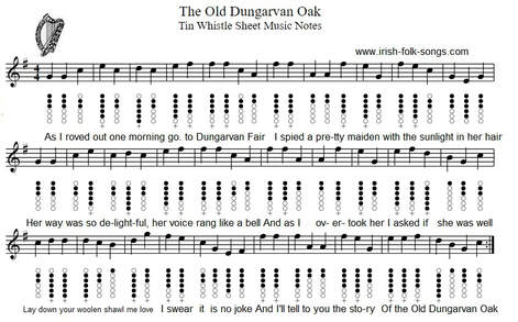 The Old Dungarvan Oak Sheet Music Notes