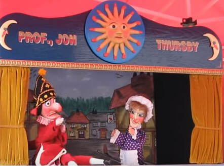 Old punch and judy show