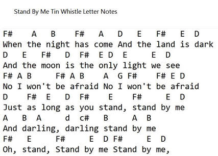 Music Letter Notes - Irish folk songs